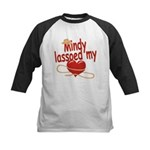 Mindy Lassoed My Heart Kids Baseball Jersey