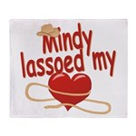 Mindy Lassoed My Heart Throw Blanket