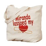 Miranda Lassoed My Heart Tote Bag