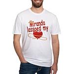 Miranda Lassoed My Heart Fitted T-Shirt