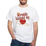 Miranda Lassoed My Heart White T-Shirt