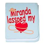 Miranda Lassoed My Heart baby blanket