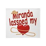 Miranda Lassoed My Heart Throw Blanket