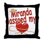Miranda Lassoed My Heart Throw Pillow