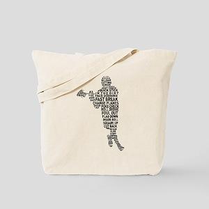 Lacrosse Terminology Tote Bag