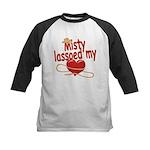 Misty Lassoed My Heart Kids Baseball Jersey
