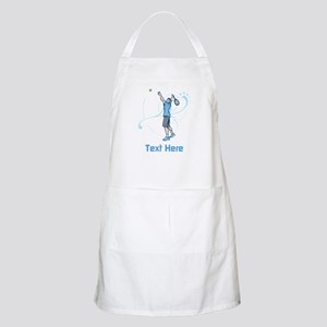 Tennis Serve, with Text. Apron