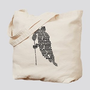Language of Hockey (skater) Tote Bag