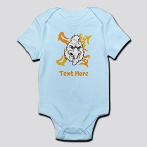 Rooster and Custom Writing. Infant Bodysuit