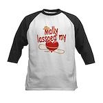 Molly Lassoed My Heart Kids Baseball Jersey