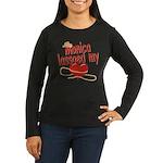 Monica Lassoed My Heart Women's Long Sleeve Dark T