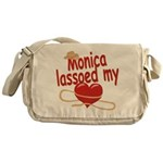 Monica Lassoed My Heart Messenger Bag