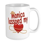 Monica Lassoed My Heart Large Mug