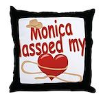 Monica Lassoed My Heart Throw Pillow