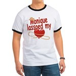 Monique Lassoed My Heart Ringer T