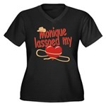 Monique Lassoed My Heart Women's Plus Size V-Neck