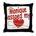 Monique Lassoed My Heart Throw Pillow