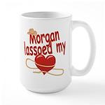 Morgan Lassoed My Heart Large Mug