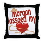 Morgan Lassoed My Heart Throw Pillow