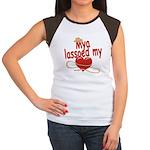 Mya Lassoed My Heart Women's Cap Sleeve T-Shirt