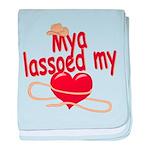Mya Lassoed My Heart baby blanket