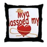 Mya Lassoed My Heart Throw Pillow