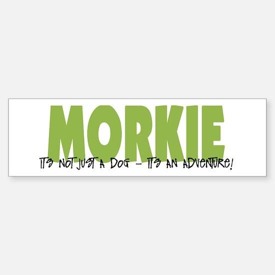 Morkie ADVENTURE Sticker (Bumper)