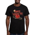 Nancy Lassoed My Heart Men's Fitted T-Shirt (dark)