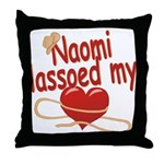 Naomi Lassoed My Heart Throw Pillow