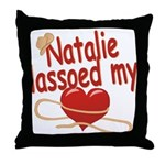 Natalie Lassoed My Heart Throw Pillow