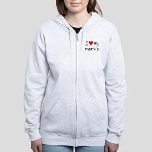 I LOVE MY Morkie Women's Zip Hoodie