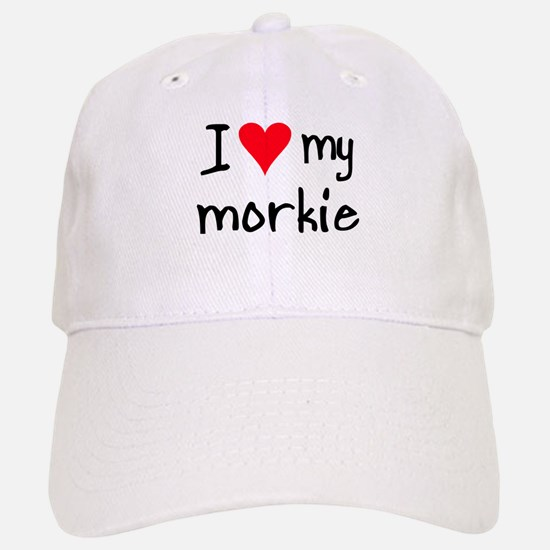 I LOVE MY Morkie Baseball Baseball Cap
