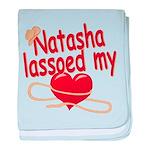 Natasha Lassoed My Heart baby blanket