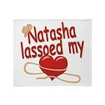 Natasha Lassoed My Heart Throw Blanket