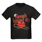 Nevaeh Lassoed My Heart Kids Dark T-Shirt