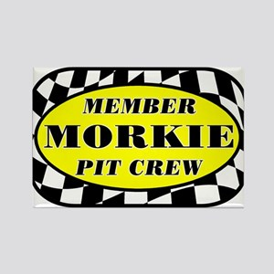 Morkie PIT CREW Rectangle Magnet