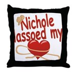 Nichole Lassoed My Heart Throw Pillow