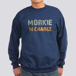 Morkie IN CHARGE Sweatshirt (dark)