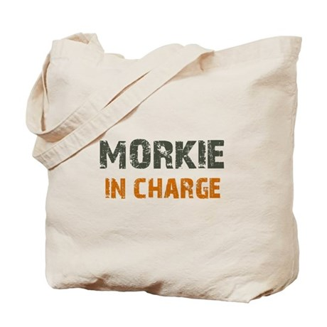 Morkie IN CHARGE Tote Bag