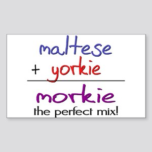 Morkie PERFECT MIX Sticker (Rectangle)