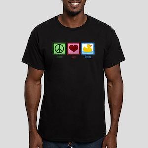 Peace Love Ducks Men's Fitted T-Shirt (dark)