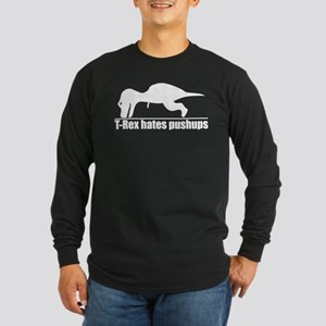 Poor T-rex Long Sleeve Dark T-Shirt