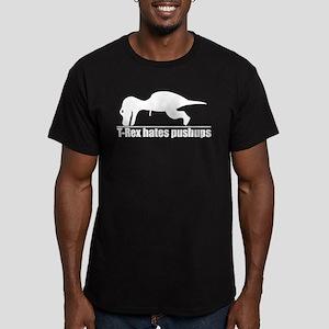 Poor T-rex Men's Fitted T-Shirt (dark)
