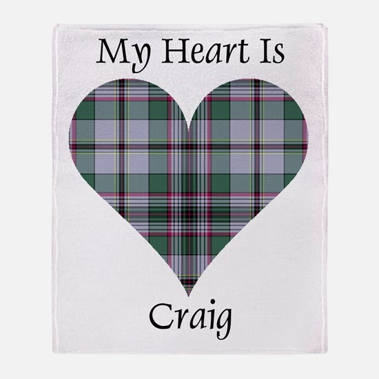 Heart - Craig Throw Blanket