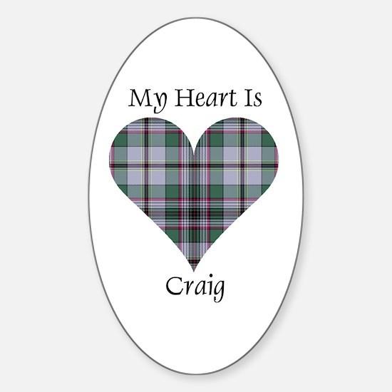 Heart - Craig Sticker (Oval)