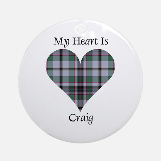 Heart - Craig Ornament (Round)