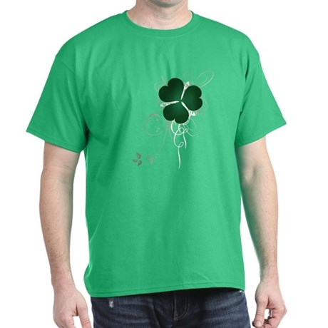 Shamrock [swirls] Dark T-Shirt