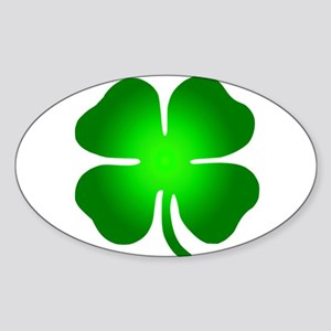 Four Leaf Clover Sticker (Oval)