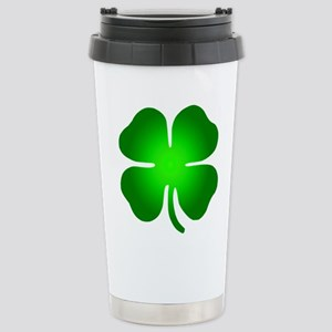 Four Leaf Clover Stainless Steel Travel Mug