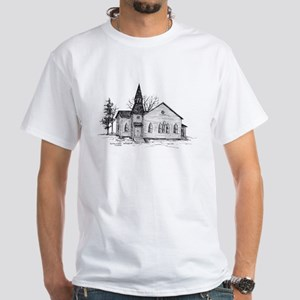 Old Country Church White T-Shirt